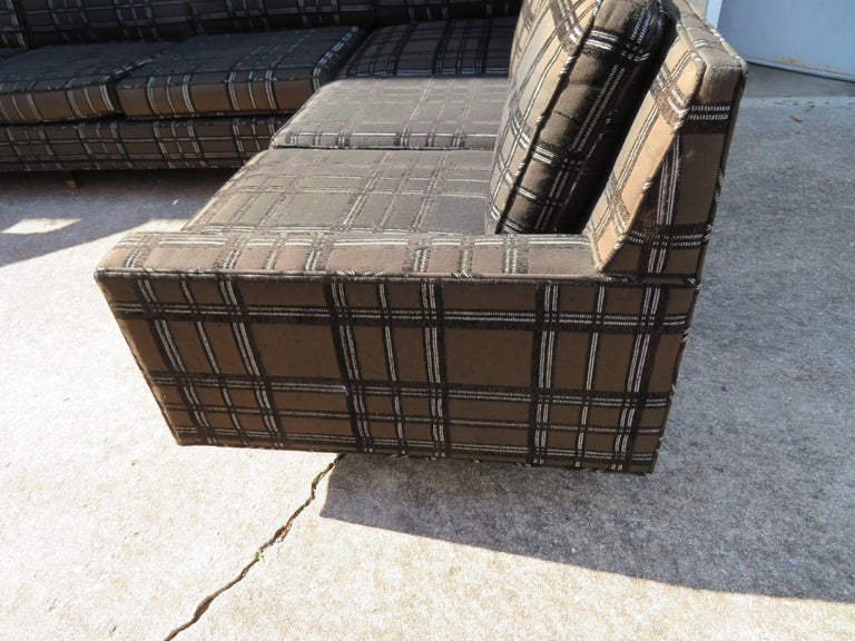 Mid-20th Century Stunning Signed Harvey Probber Two-Piece Sectional Sofa Mid-Century Modern For Sale