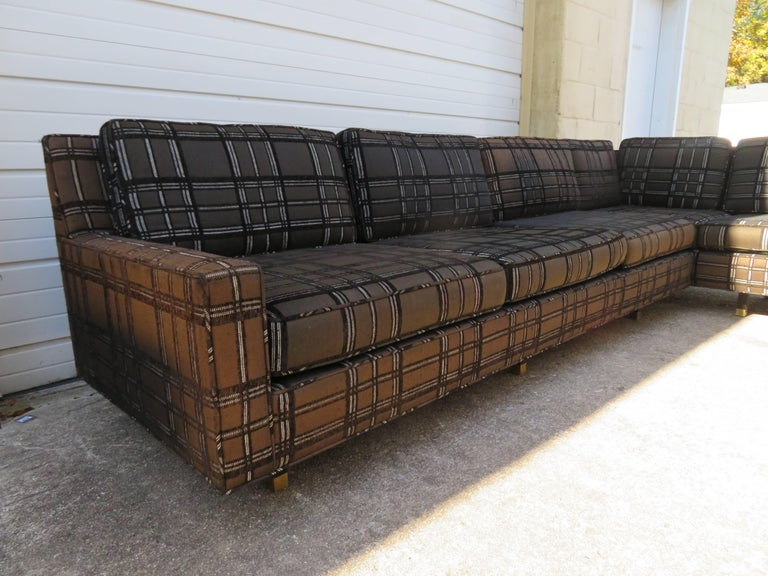 Stunning Signed Harvey Probber Two-Piece Sectional Sofa Mid-Century Modern For Sale 1