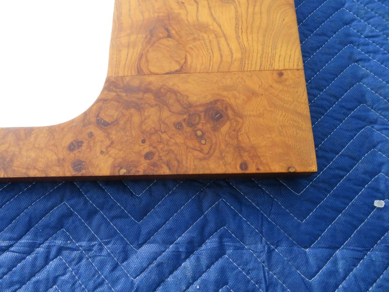 American Roland Carter for Lane Olive Wood Mirror Mid-Century Modern For Sale