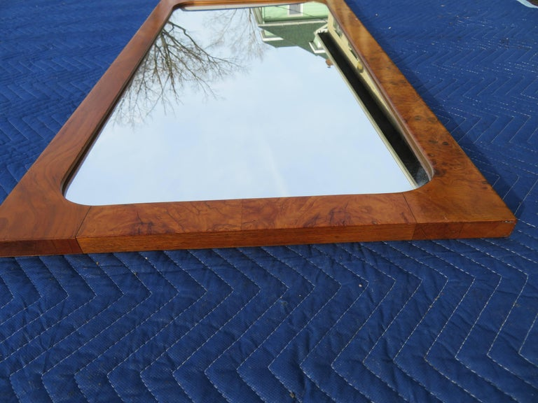 Roland Carter for Lane Olive Wood Mirror Mid-Century Modern For Sale 1