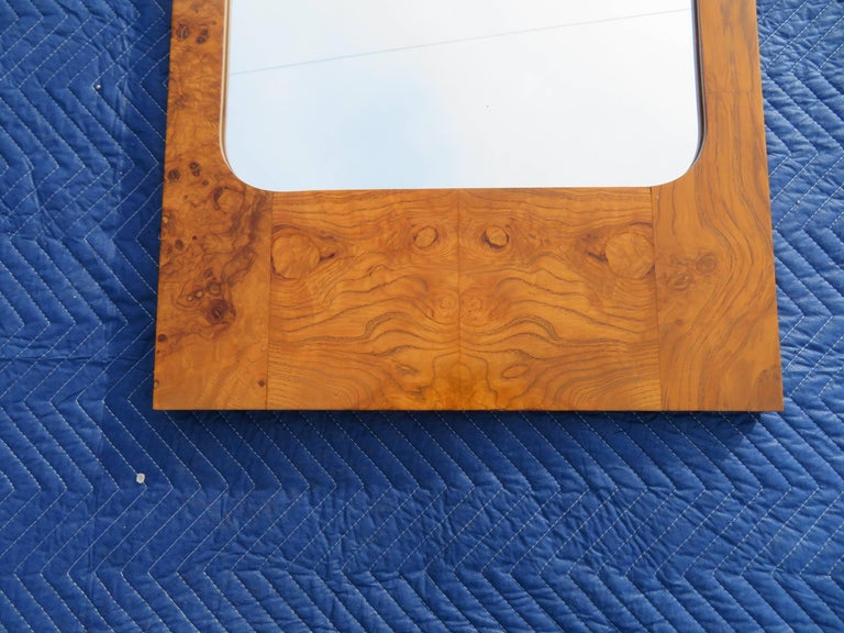 Roland Carter for Lane Olive Wood Mirror Mid-Century Modern For Sale 2