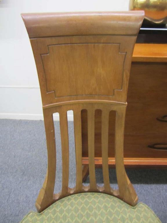 Mid Century Modern 4 American Tomlinson Sophisticate Tall Back Dining Chairs