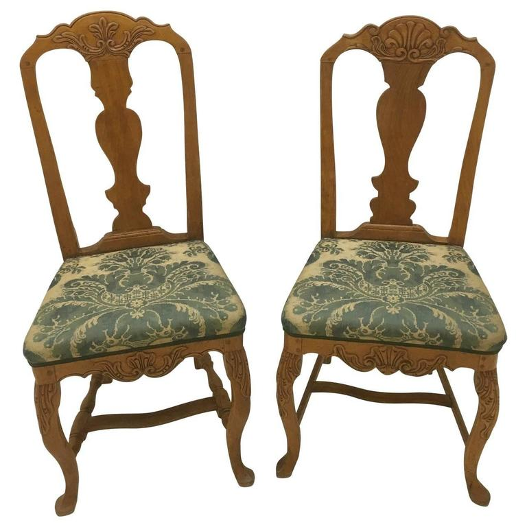 Great pair of original 18th Century Rococo chairs.