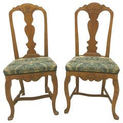 Pair of Danish Rococo Chairs