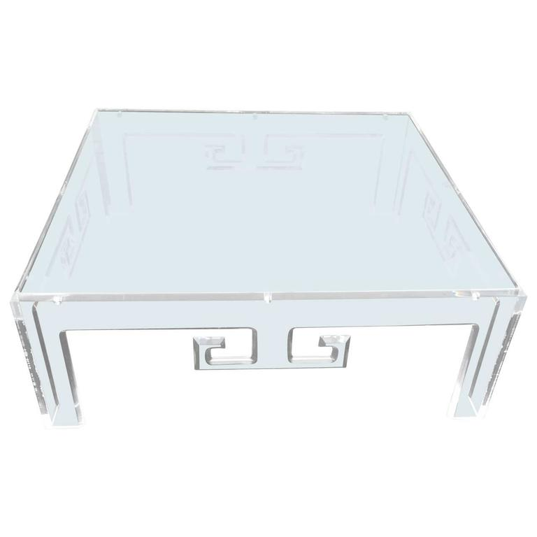 Large Square Lucite Coffee Table For Sale At 1stdibs