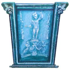 French Putti Decorated Radiator Screen