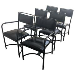 Rare Set of Six Vintage Adnet Dining Chairs