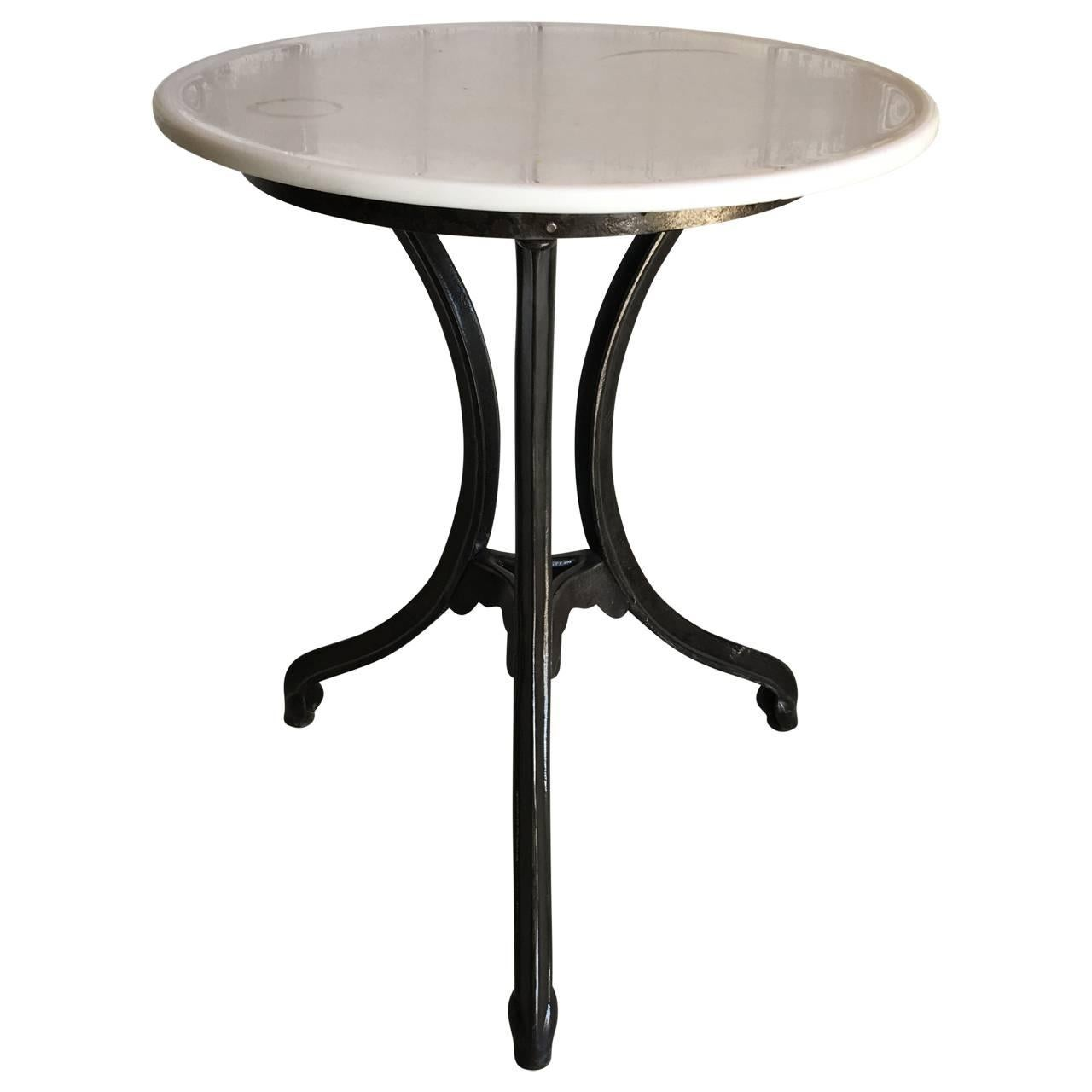 Early 20th Century Fountain Table with Opaque Tabletop