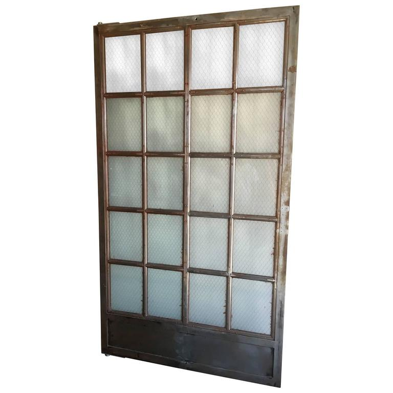 Vintage Steel Elevator Door For Sale At 1stdibs