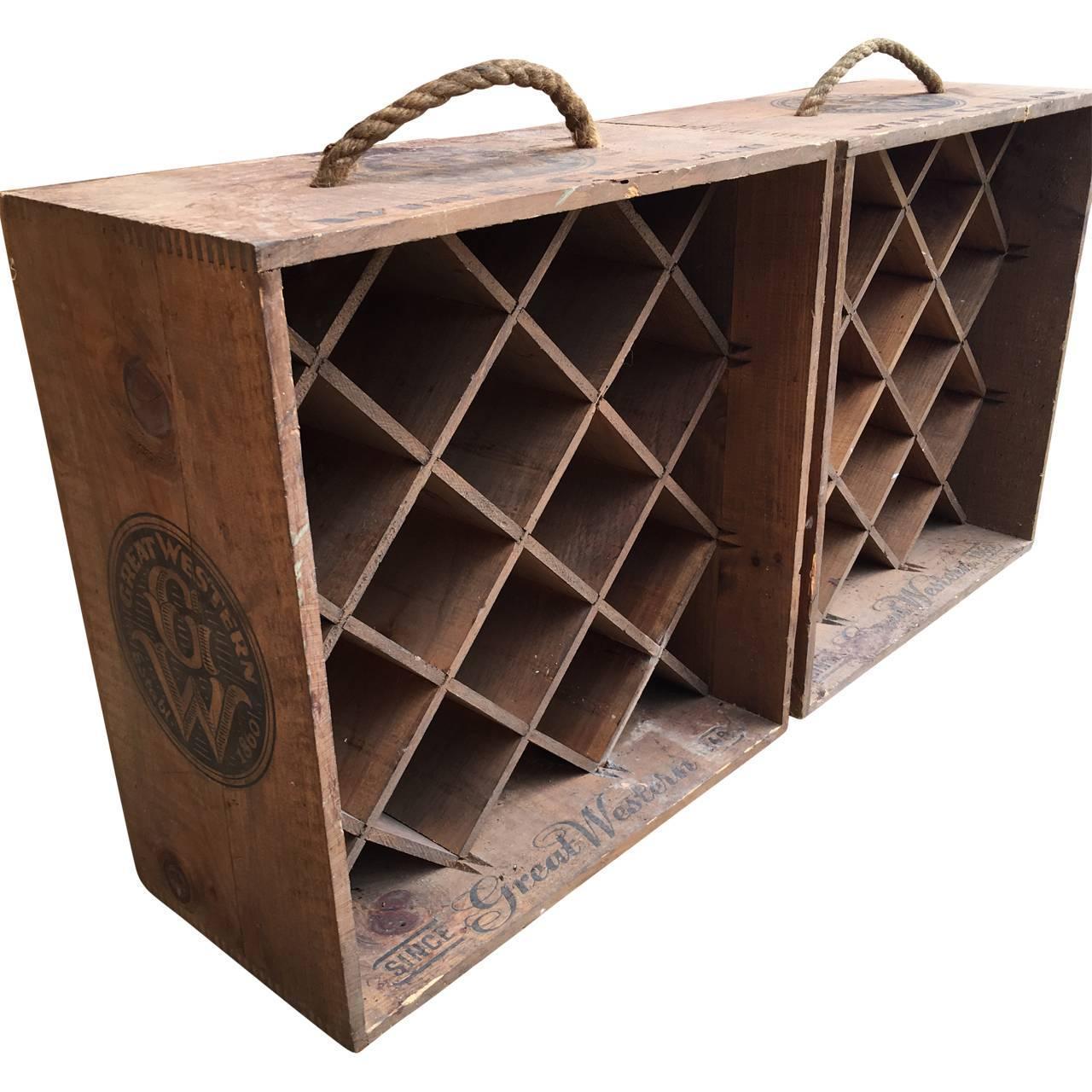Pair Of Original Vintage Wine Racks For Sale At 1stdibs