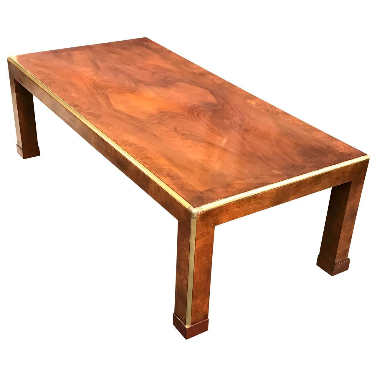 Rectangular coffee table by baker at 1stdibs Baker coffee table