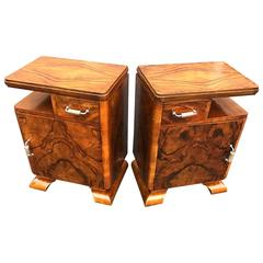Pair of Italian Deco Night Stand Tables