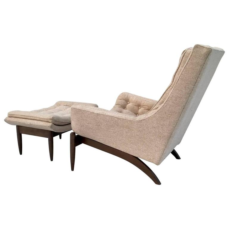 Adrian Pearsall High Back Lounge Chair And Ottoman At 1stdibs