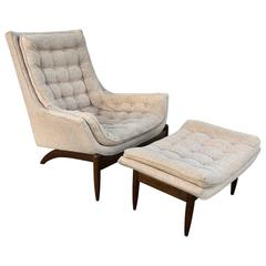 Adrian Pearsall High Back Lounge Chair and Ottoman