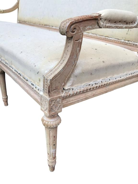 Early 19th Century Swedish Settee For Sale 4