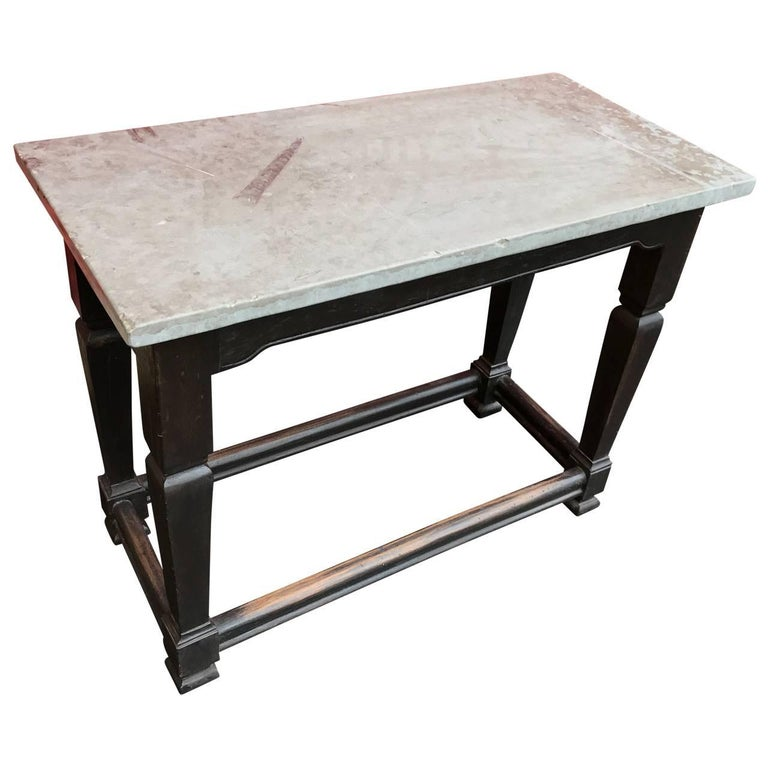 Swedish Gustavian Stone Top Table, Sweden For Sale