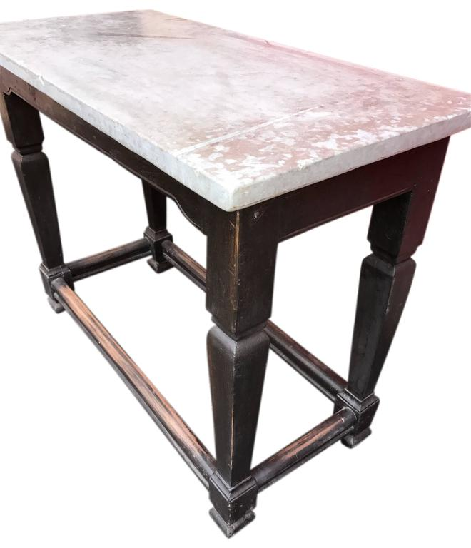 Swedish Gustavian Stone Top Table, Sweden For Sale 3
