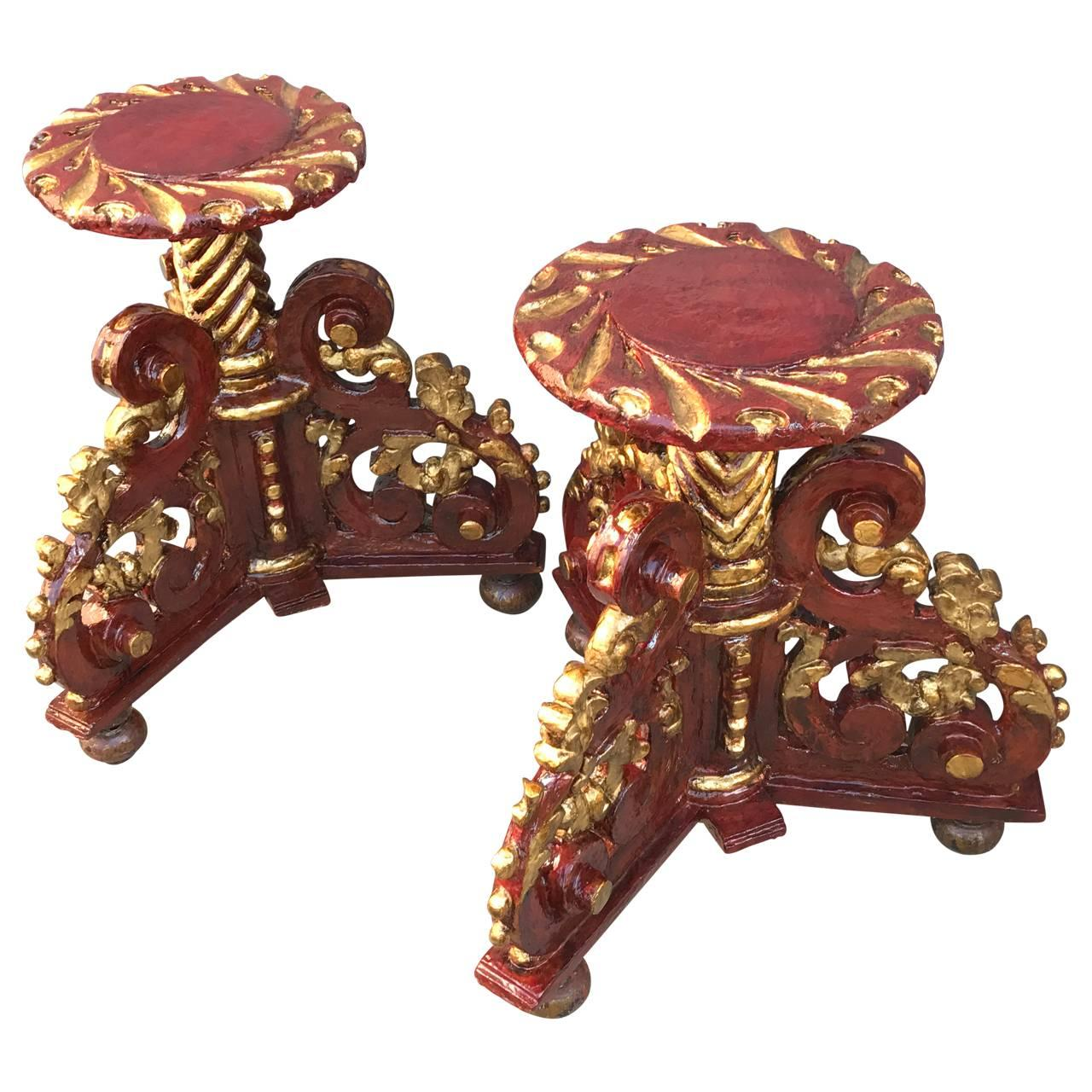 Pair Of 18th Century Spanish Pedestal Tables