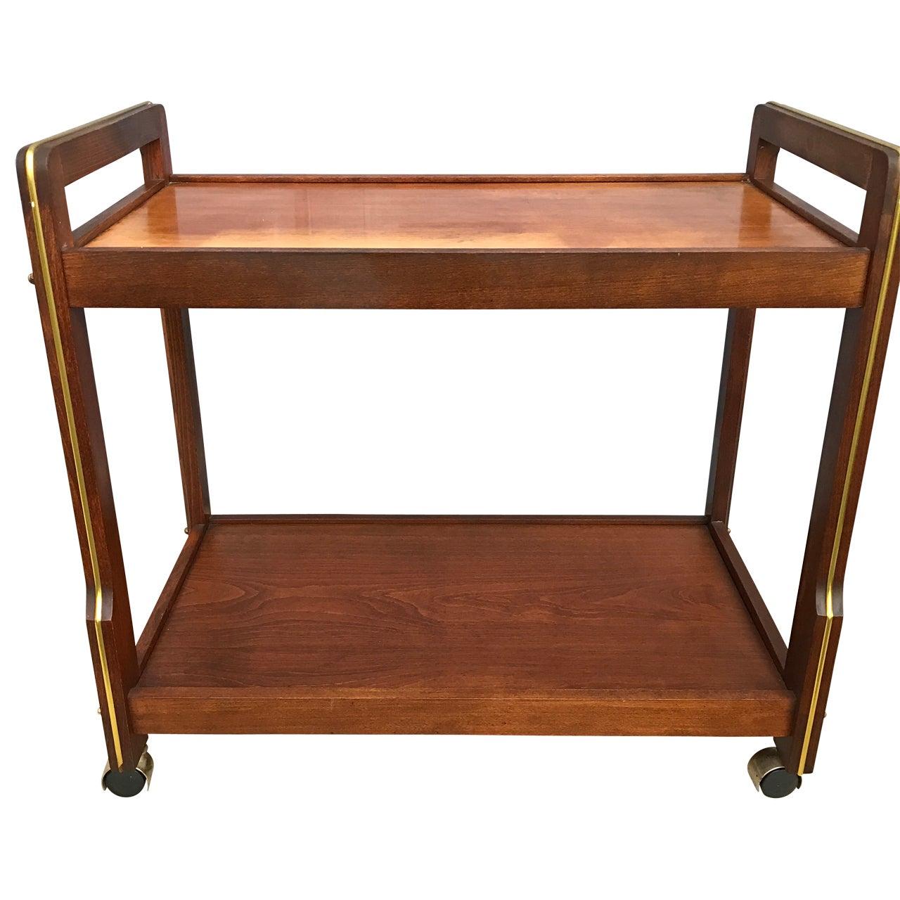 Mid-Century Wooden Bar Cart