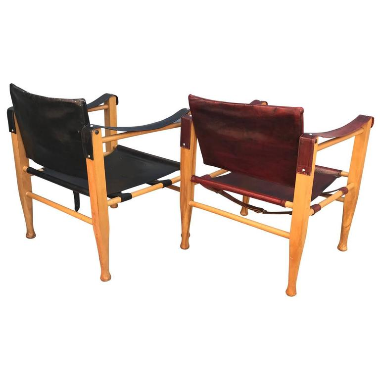 Two Mid Century Modern Safari Chairs For Sale At 1stdibs