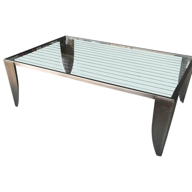 Modern Steel Cocktail Table 1