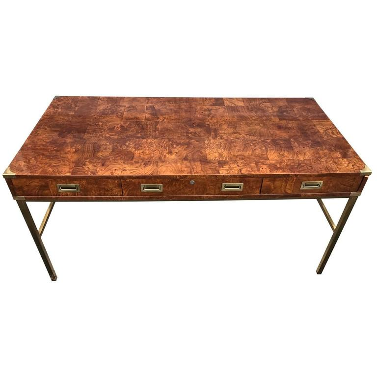 Vintage campaign desk by bernhardt for sale at 1stdibs for Bernhardt furniture for sale