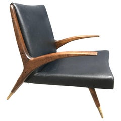 Danish Mid-Century Modern Teak Lounge Chair, 1950s