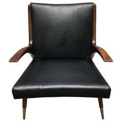 Danish Mid-Century Modern Teak Lounge Chair, 1950s