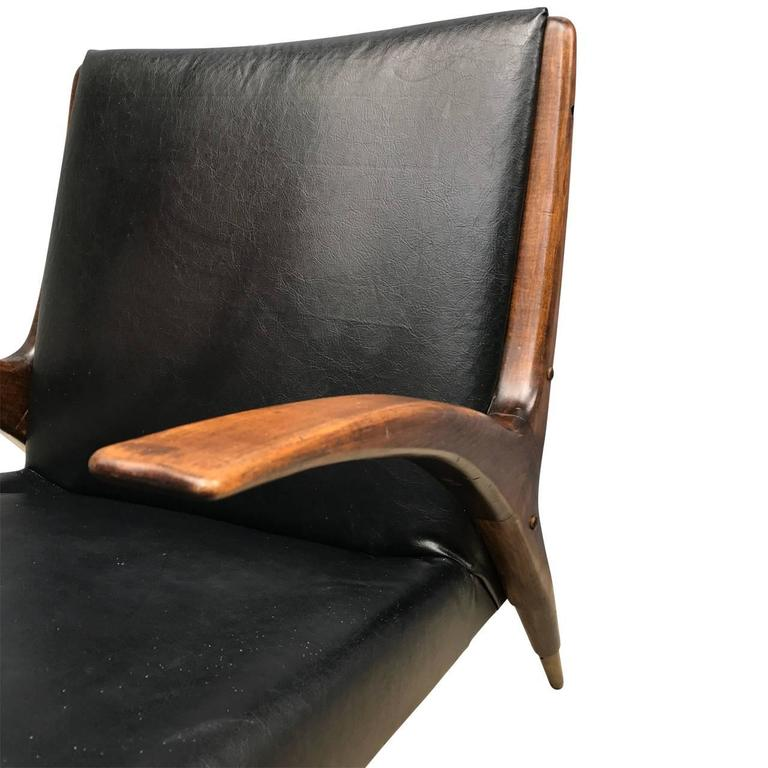 Danish Mid-Century Modern Teak Lounge Chair, 1950s For Sale 2