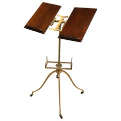 Early 20th Century Gilded Metal And Wood Music Stand
