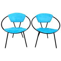 Pair of Salterini Hoop Lounge Chairs