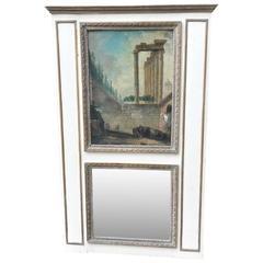18th Century Louis XVI Trumeau Mirror