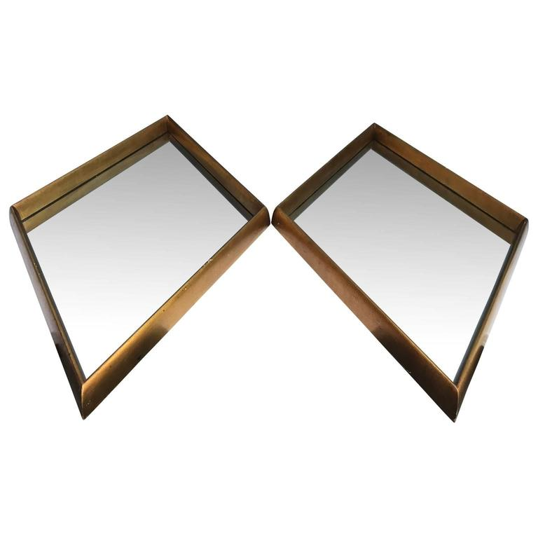 Sharp looking pair of Hollywood Regency gold leaf mirrors.  $125 flat rate front door delivery includes Washington DC metro, Baltimore and Philadelphia