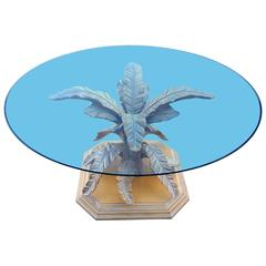 1970s Italian Tropical Leaf Dining Table