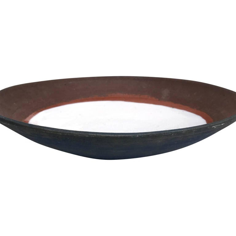 American Large Mid-Century Modern Glazed Stoneware Charger Plate For Sale