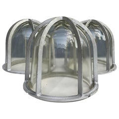 Set of Three Large Industrial Appleton Blast-Resistant Ceiling Lamps