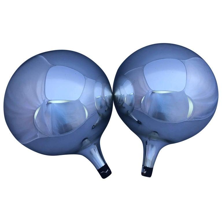 Large Pair of Decorative Mercury Glass Balls