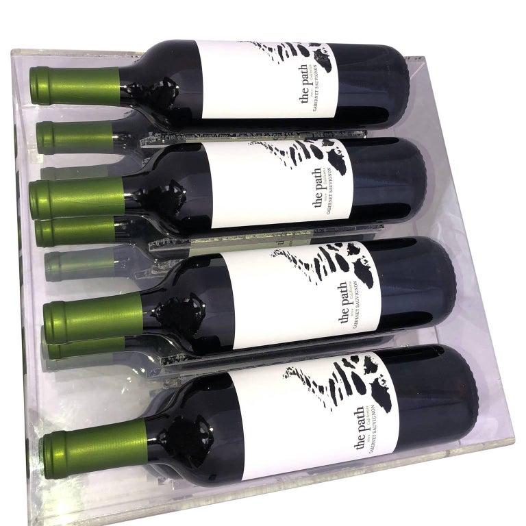 Mid-Century Lucite 8 Bottle Wine Rack For Sale 1