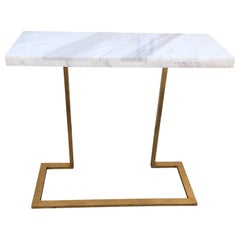 Mid-Century Modern Style Jonathan Charles Marble Top Gilded Console
