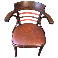 Early Thonet Style Bentwood Desk Chair by Jacob & Josef Kohn Mundus