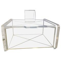 Mid-Century Transparent Lucite Jewelry Box
