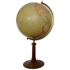 Large German Globe on a Wooden Stand, Berlin