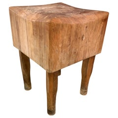 Large American Square Butchers Block Table