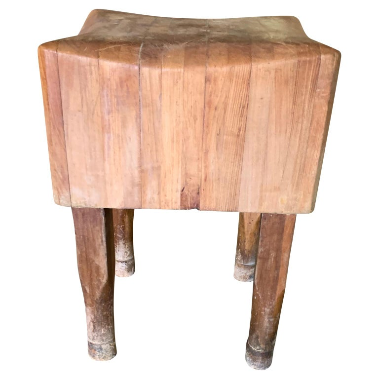 Maple Large American Square Butchers Block Table For Sale