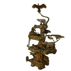 Chinese Bronze Fountain with Animals and in the Shape of a Tree