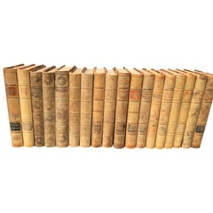 Set of 18 Swedish Leather-Bound Library Books from 1928