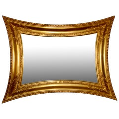 Danish Neoclassical Giltwood Concave Sided Mirror