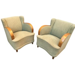 Pair of Swedish Art Deco Lounge Chairs