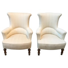 Pair of Swedish Oskar the 2nd Wingback Lounge Chairs