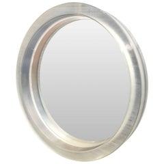 Large Modern Round Thick Lucite Mirror